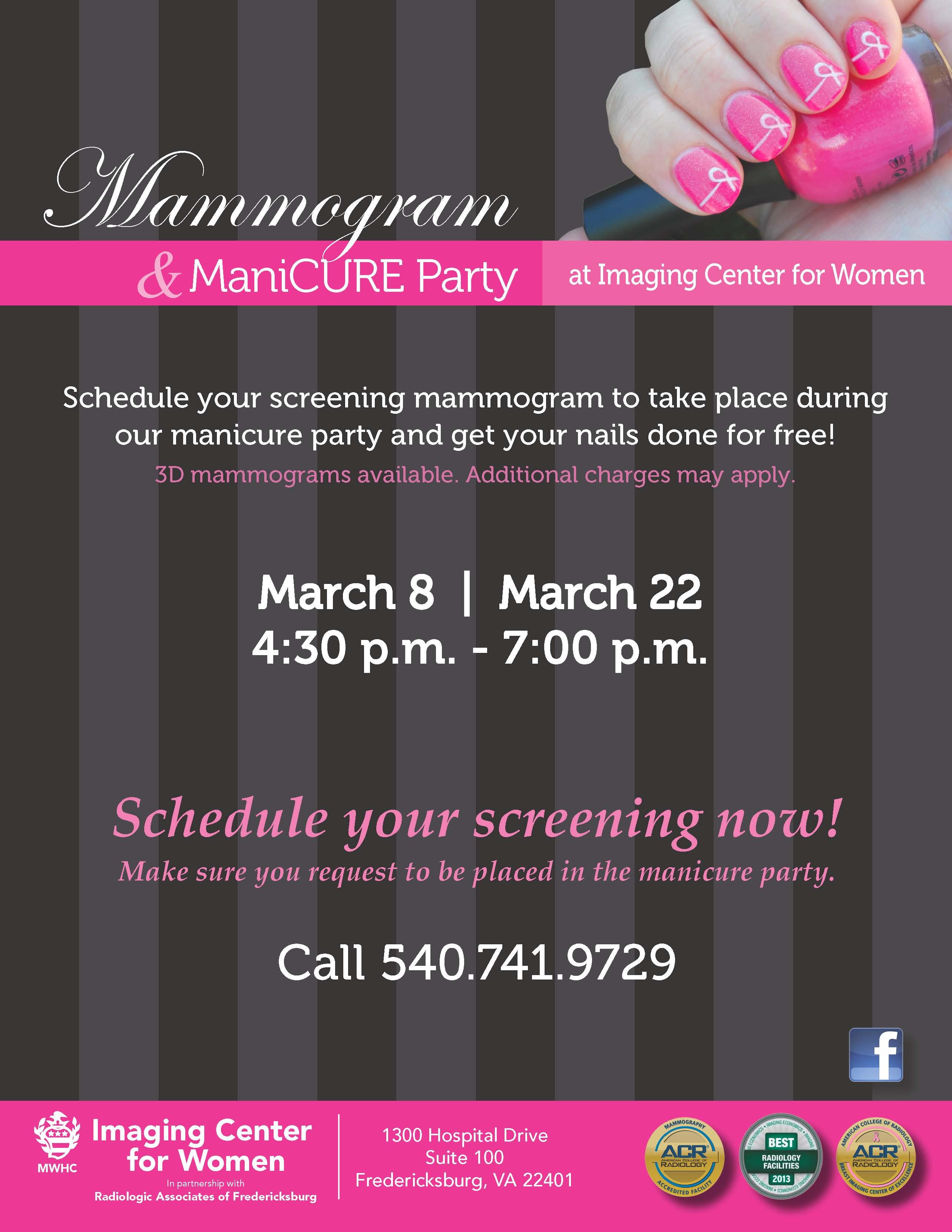 Mammogram Event Flyer March 8