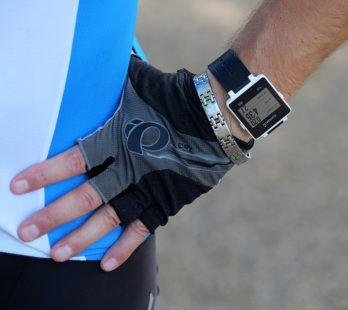 man with a smart watch that tracks his health.