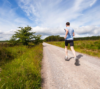 man running who could benefit from cardiac scoring