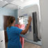 medical imaging equipment, patient, and tech